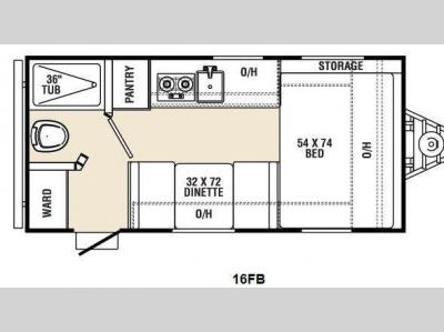 Floorplan - 2016 Coachmen RV Viking Ultra-Lite 16FB