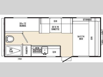 Floorplan - 2016 Coachmen RV Viking Ultra-Lite 17BH