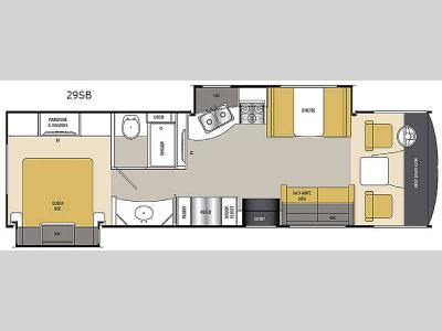 Floorplan - 2016 Coachmen RV Pursuit 29 SB