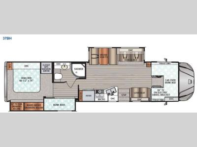 Floorplan - 2016 Dynamax FORCE 37BH