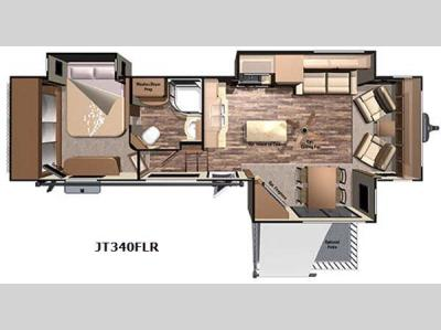 Floorplan - 2016 Highland Ridge RV Journeyer JT340FLR