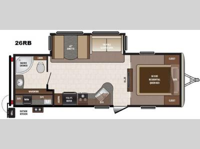 Floorplan - 2016 Keystone RV Sprinter Campfire Edition 26RB