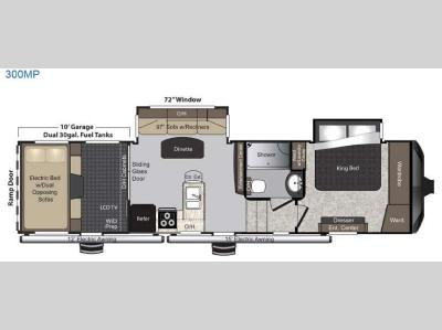 Floorplan - 2016 Keystone RV Raptor 300MP