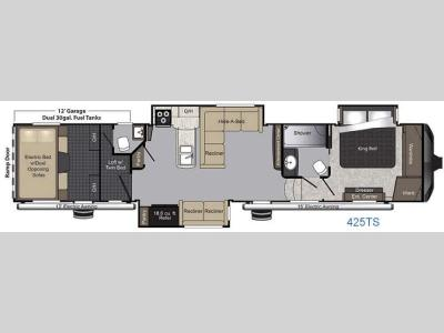 Floorplan - 2016 Keystone RV Raptor 425TS
