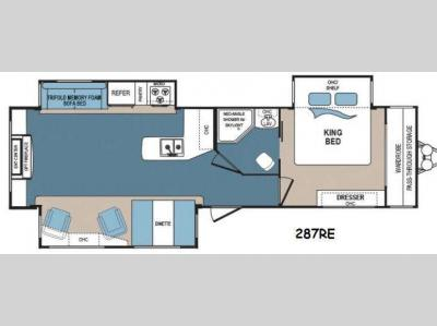 Floorplan - 2016 Dutchmen RV Denali 287RE
