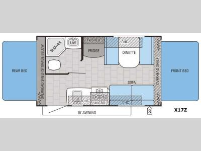Floorplan - 2016 Jayco Jay Feather Ultra Lite X17Z