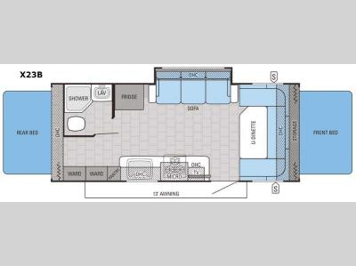 Floorplan - 2016 Jayco Jay Feather Ultra Lite X23B