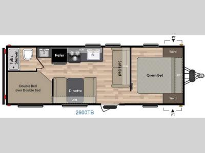 Floorplan - 2016 Keystone RV Summerland 2600TB