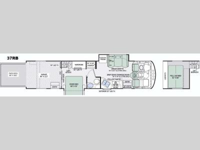 Floorplan - 2016 Thor Motor Coach Outlaw 37RB