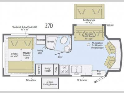 Floorplan - 2016 Winnebago Aspect 27D