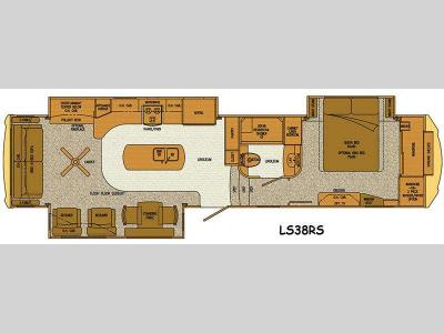 Floorplan - 2016 Lifestyle Luxury RV Lifestyle LS38RS