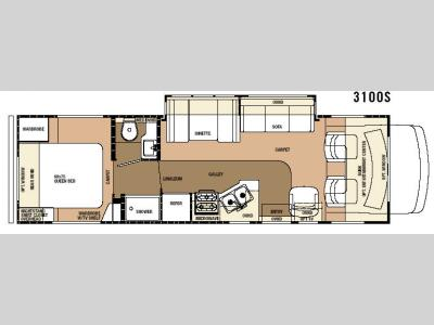 Floorplan - 2007 Forest River RV Sunseeker 3100SS