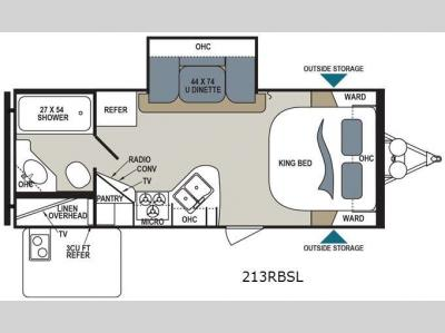 Floorplan - 2016 Dutchmen RV Aerolite 213RBSL
