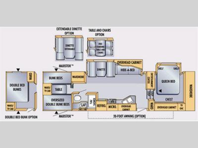 Floorplan - 2007 Jayco Eagle 325 BHS
