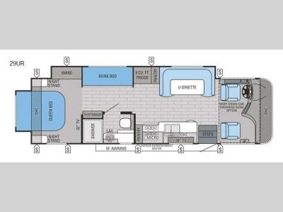Floorplan - 2016 Jayco Precept 29UR