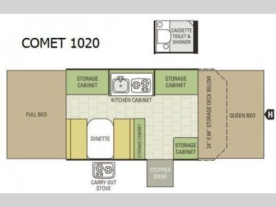 Floorplan - 2016 Starcraft Comet 1020