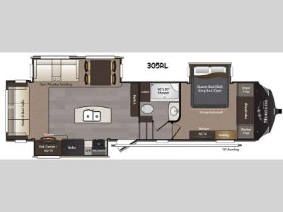 Floorplan - 2016 Keystone RV Montana High Country 305RL