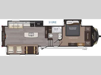 Floorplan - 2016 Keystone RV Montana High Country 310RE