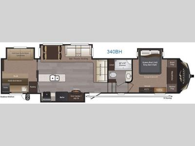 Floorplan - 2016 Keystone RV Montana High Country 340BH