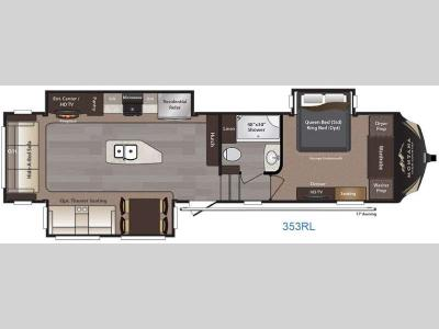Floorplan - 2016 Keystone RV Montana High Country 353RL