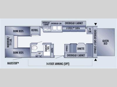 Floorplan - 2007 Jayco Jay Feather EXP 26 L