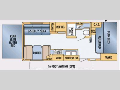 Floorplan - 2007 Jayco Jay Feather EXP 254