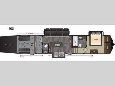 Floorplan - 2016 Keystone RV Fuzion 403 Chrome