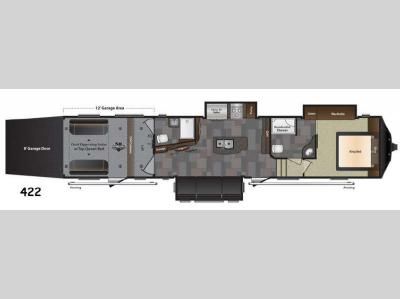 Floorplan - 2016 Keystone RV Fuzion 422 Chrome