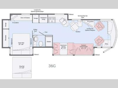 Floorplan - 2016 Winnebago Forza 36G