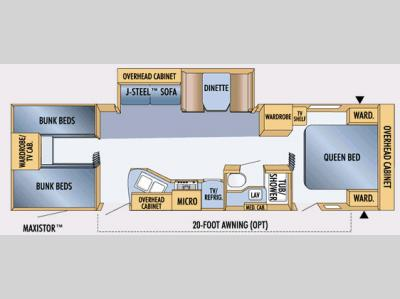 Floorplan - 2007 Jayco Jay Feather LGT 30 U