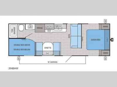 Floorplan - 2016 Jayco Jay Flight SLX 264BHW