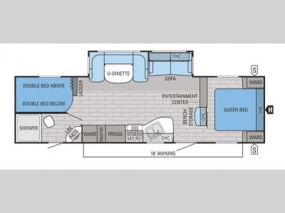 Floorplan - 2016 Jayco Jay Flight 28BHBE