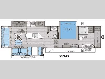Floorplan - 2016 Jayco Pinnacle 36FBTS