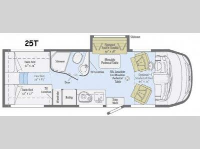 Floorplan - 2016 Winnebago Via 25T