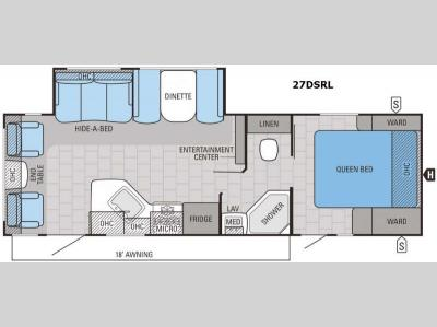 Floorplan - 2016 Jayco White Hawk 27DSRL