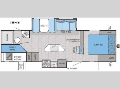 Floorplan - 2016 Jayco White Hawk 28BHKS