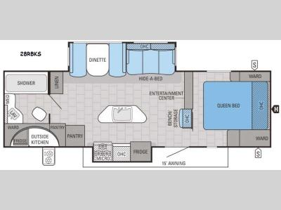 Floorplan - 2016 Jayco White Hawk 28RBKS