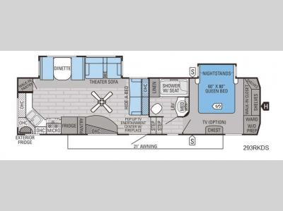 Floorplan - 2016 Jayco Eagle 293RKDS
