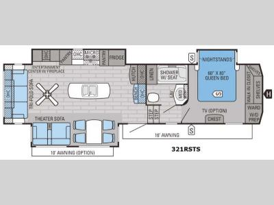 Floorplan - 2016 Jayco Eagle 321RSTS