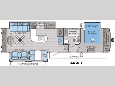 Floorplan - 2016 Jayco Eagle 323LKTS