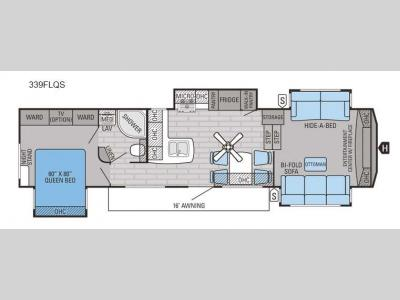 Floorplan - 2016 Jayco Eagle 339FLQS