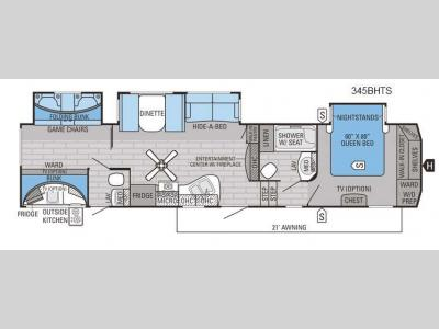 Floorplan - 2016 Jayco Eagle 345BHTS