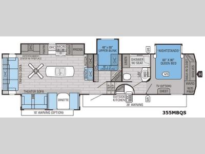 Floorplan - 2016 Jayco Eagle 355MBQS