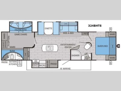 Floorplan - 2016 Jayco Eagle 324BHTS