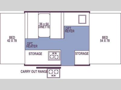 Floorplan - 2007 Forest River RV Rockwood Freedom/LTD 1640 Freedom LTD