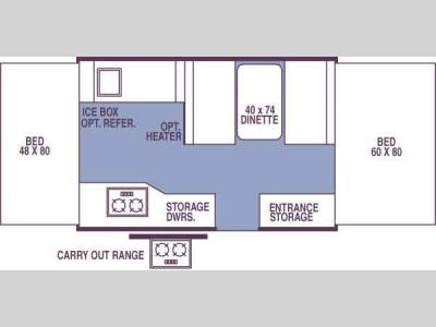 Floorplan - 2007 Forest River RV Rockwood Freedom/LTD 1940 Freedom LTD