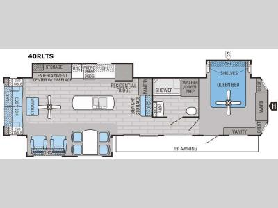 Floorplan - 2016 Jayco Jay Flight Bungalow 40RLTS
