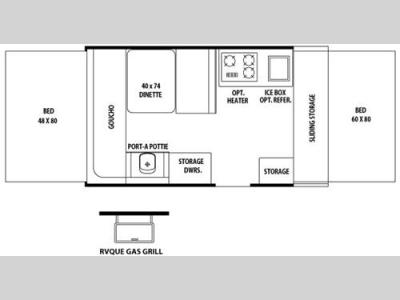 Floorplan - 2007 Forest River RV Rockwood Freedom/LTD 1910 Freedom