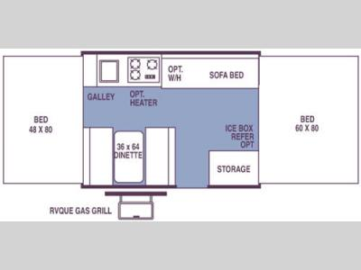 Floorplan - 2007 Forest River RV Rockwood Premier 1907