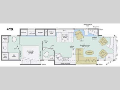 Floorplan - 2016 Winnebago Grand Tour 42QL
